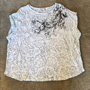 Patterned tee, Anthropologie, size L